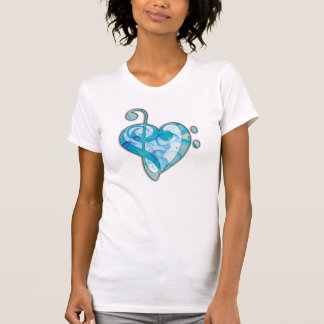 Beautiful cool music notes together as a heart t shirt