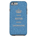 Beautiful cool save water drink champagne crown iPhone 6 case