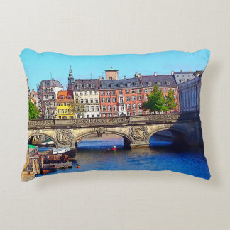 """Beautiful Copenhagen"", Photo / Digital Painting Accent Pillow"