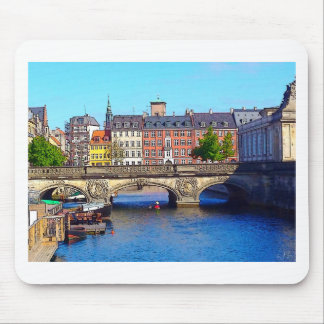 """Beautiful Copenhagen"", Photo / Digital Painting Mouse Pad"