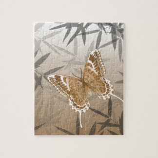 Beautiful Copper Butterfly Design Jigsaw Puzzle