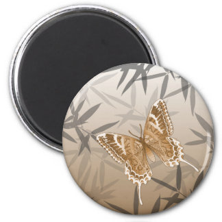 Beautiful Copper Butterfly Design Magnet