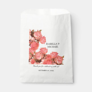 Wedding Favor Bags Coral : Beautiful Coral Rose Wedding Favor Bag