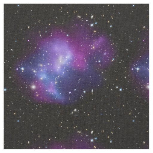 Beautiful cosmic space galaxy clusters fabric zazzle for Galaxy quilt fabric