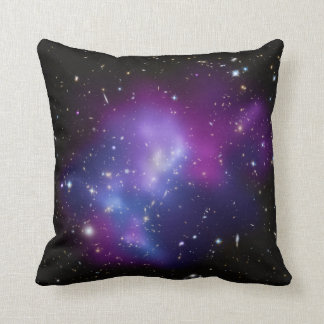 Beautiful cosmic space galaxy clusters throw pillow