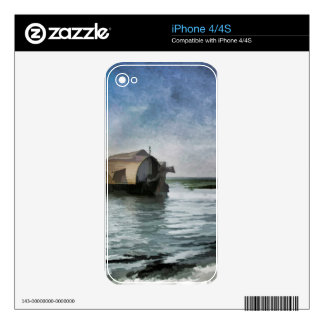 Beautiful cottages and lagoon skin for iPhone 4S