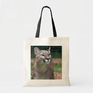 Beautiful cougar photo shopping tote bag