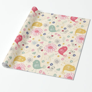 Beautiful Country Birds Wrapping Paper