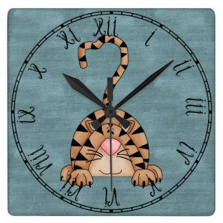 Beautiful Country Cat Square Wall Clock