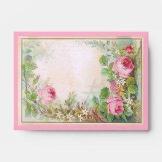 Beautiful Country Chic Roses Custom Envelopes