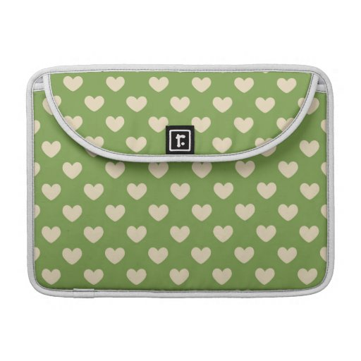 Beautiful Country Green Hearts MacBook Pro Sleeve