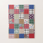 "Beautiful Country Patchwork Quilt Jigsaw Puzzle<br><div class=""desc"">This is an awesome abstract art gift featuring a patchwork pattern that looks awesome. This makes the perfect gift for any occasion. 