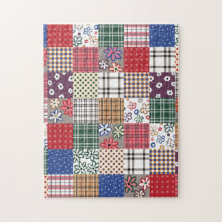 Beautiful Country Patchwork Quilt Jigsaw Puzzle