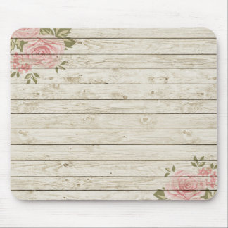Beautiful Country Shabby Chic Rustic Wood Mouse Pad