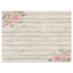Beautiful Country Shabby Chic Rustic Wood Tissue Paper