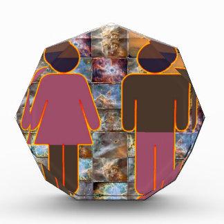 Beautiful Couple - Male Female Indicator Acrylic Award