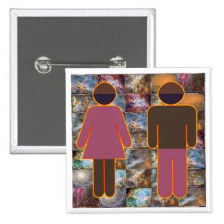 Beautiful Couple - Male Female Indicator Pinback Button