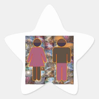 Beautiful Couple - Male Female Indicator Star Sticker
