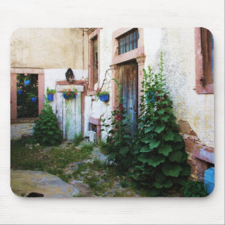 Beautiful Courtyard in Crete, Greece Mousepads