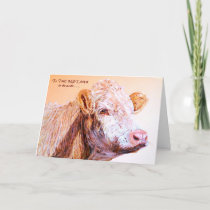 Beautiful Cow Mother's Day Card