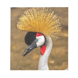 Beautiful Crane bird Memo Notepads