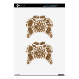 Beautiful Cream Abstract Pattern Xbox 360 Controller Decal