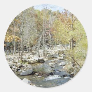 Beautiful Creek in Woods Classic Round Sticker