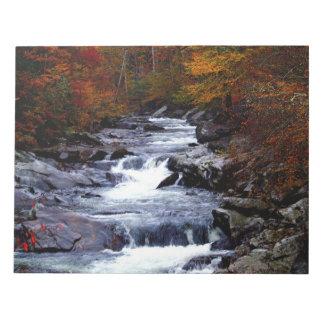 Beautiful creek nature scenery scratch pads