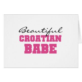 Beautiful Croatian Babe Greeting Card