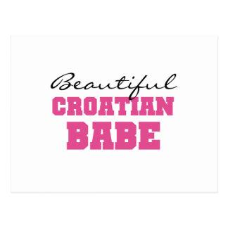 Beautiful Croatian Babe Postcard