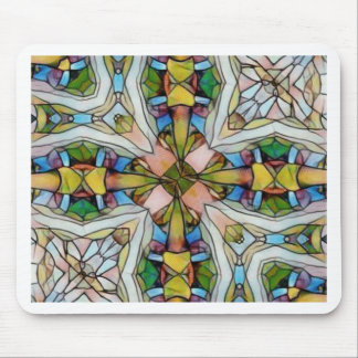 Beautiful Cross Shaped Stained Glass Inspirational Mouse Pad