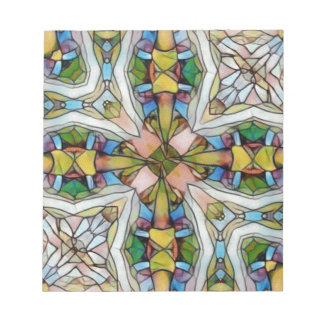 Beautiful Cross Shaped Stained Glass Inspirational Notepad