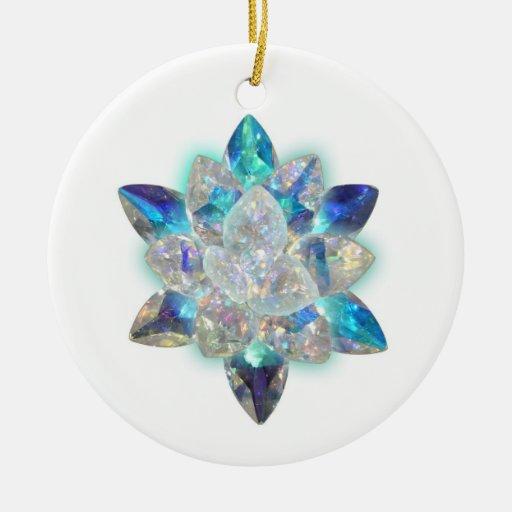 crystal christmas holiday ornament