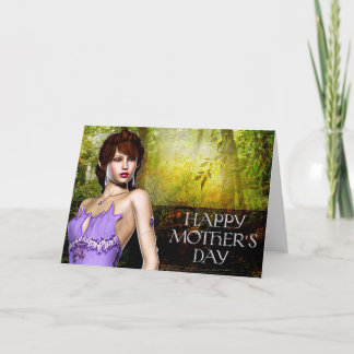 Beautiful Crystal Elf - Fantasy Mother's Day Card