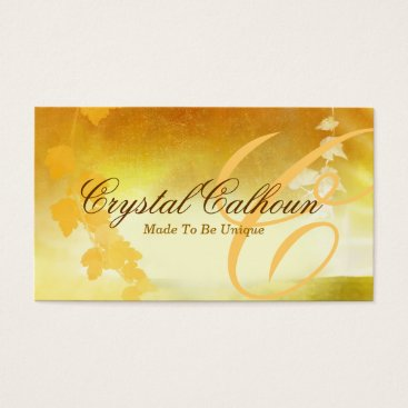 Professional Business Beautiful Curly Painted Nature Business Card