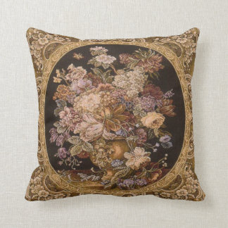 Beautiful cushion with antique tapestry design. throw pillow