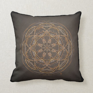 Beautiful custom black & gold mandala throw pillow