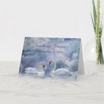 Beautiful Custom Congratulations on Wedding Swans Card