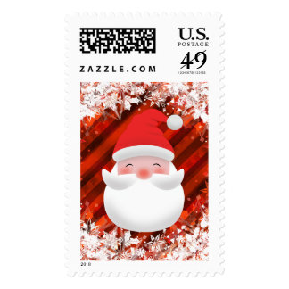 Beautiful Custom Holiday Stamps - Happy Santa