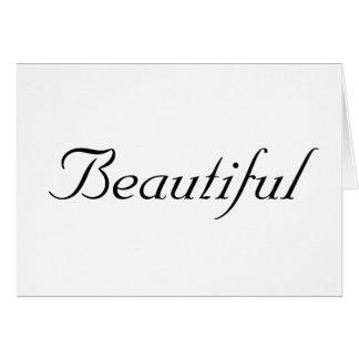 Beautiful - Customized Card