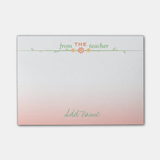 Beautiful Customized Teacher Post-it Notes Post-it® Notes