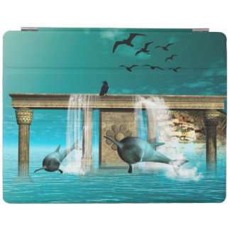 Beautiful, cute dolphins iPad smart cover