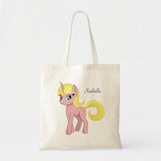 Beautiful cute pink fantasy unicorn favour tote bag
