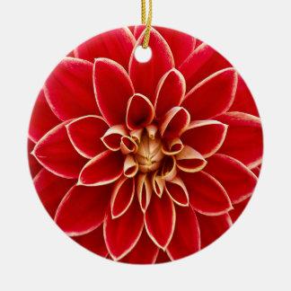 Beautiful Dahlia Flower Petals Design Ceramic Ornament