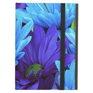 Beautiful Daisies in Indigo Blue, Chartreuse Green iPad Air Cases