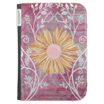 Beautiful Daisy Flower Distressed Floral Chic Cases For Kindle