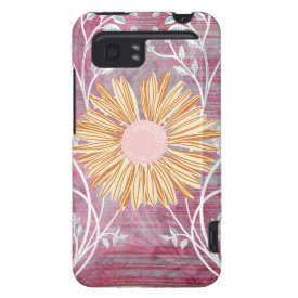 Beautiful Daisy Flower Distressed Floral Chic HTC Vivid Covers