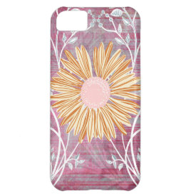 Beautiful Daisy Flower Distressed Floral Chic iPhone 5C Cases