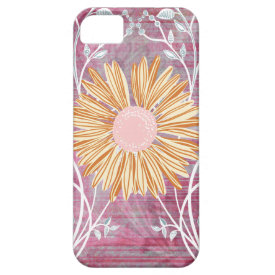 Beautiful Daisy Flower Distressed Floral Chic iPhone 5 Case