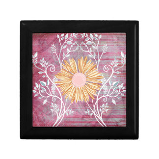 Beautiful Daisy Flower Distressed Floral Chic Keepsake Boxes